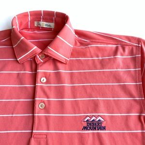 PETER MILLAR - Med - Striped Polo w Logo